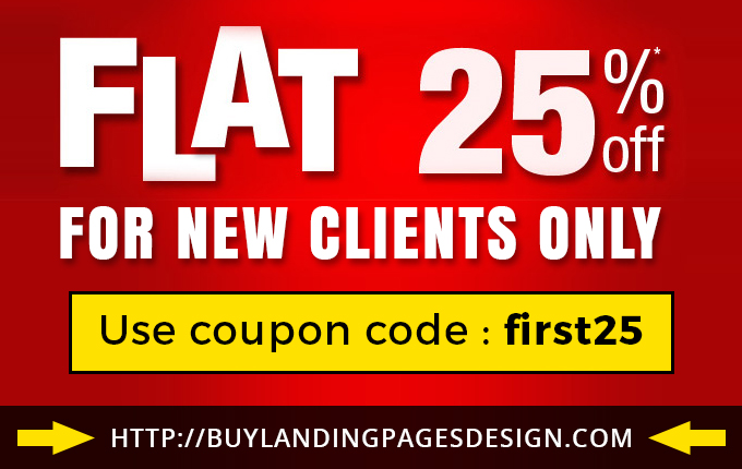 Get Flat 25% Discount on All Landing Page Designs