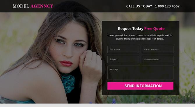 Responsive Model Agency Landing Page